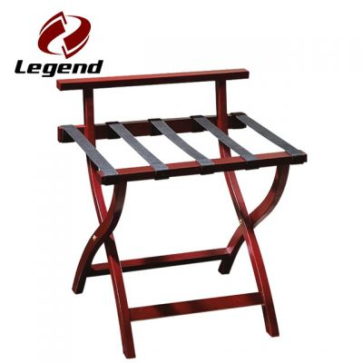 Folding hotel wood luggage rack