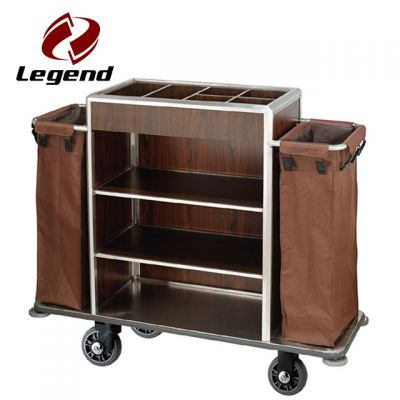 Equipment Housekeeping Carts,Hotel Housekeeping Cart Laundry Trolley with Canvas Bag,Hotel Housekeeping Trolley Maid Cart,Hotel Restaurant Supply,Housekeeping Carts & Hospitality Carts