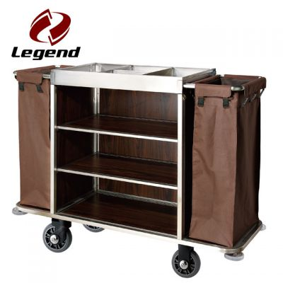 Hotel Restaurant Supply,Housekeeping & Room Service Carts for Hotels,Housekeeping Supplies,Multi-purpose Hotel Housekeeping Maid Cart Trolley