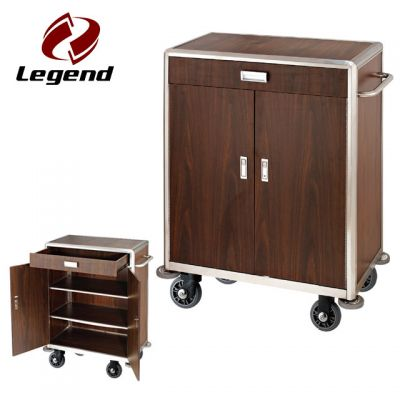 Hotel Cleaning Supplies,Housekeeping Supplies,Multi function hotel housekeeping cart,Popular hotel cleaning trolley