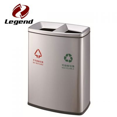 Stainless Steel Trash Bin,Waste Recycling Bin